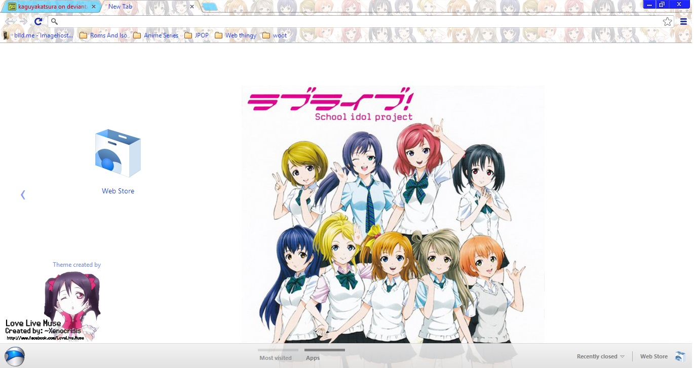 Love Live School Idol Project Chrome theme by kaguyakatsura on