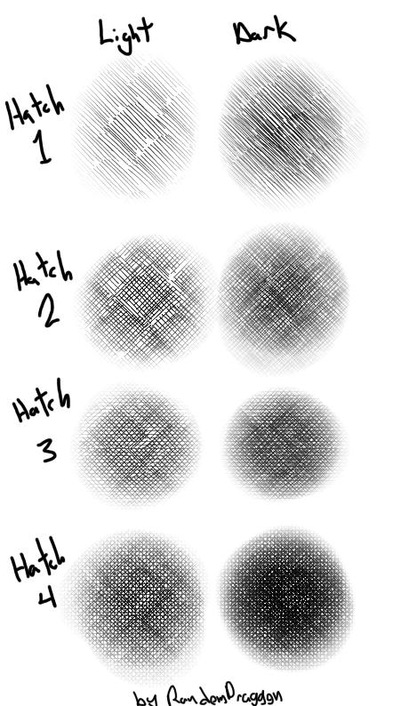 Sai Hatch Brush Textures by DesertDraggon