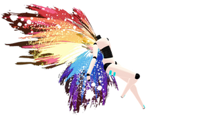 Rainbow Splatter Wings DL by DesertDraggon