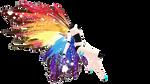 Rainbow Splatter Wings DL