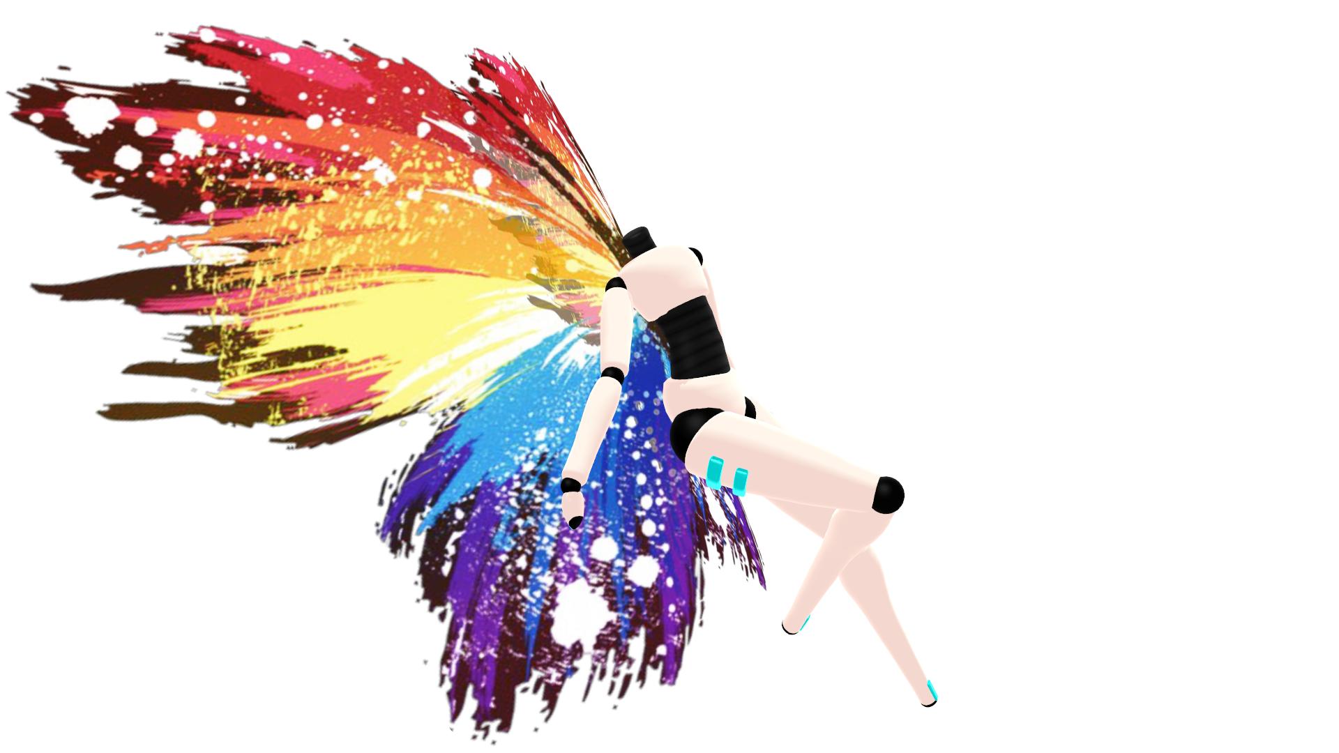 Rainbow Splatter Wings DL by RandomDraggon
