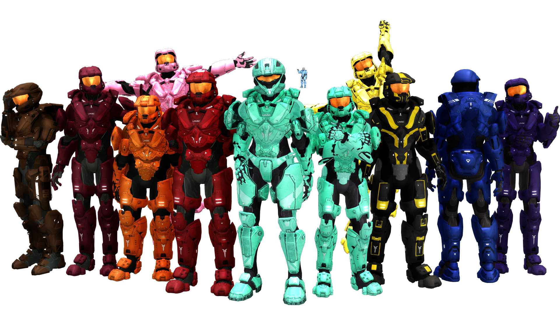 ... MMD Red vs Blue Teams+ [DL] by RandomDraggon
