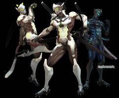 MMDxOverwatch: Genji Shimada DL by DesertDraggon