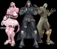 MMDxOverwatch: Reaper by DesertDraggon