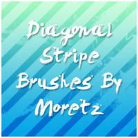 Diagonal Stripe Brushes by Moretz