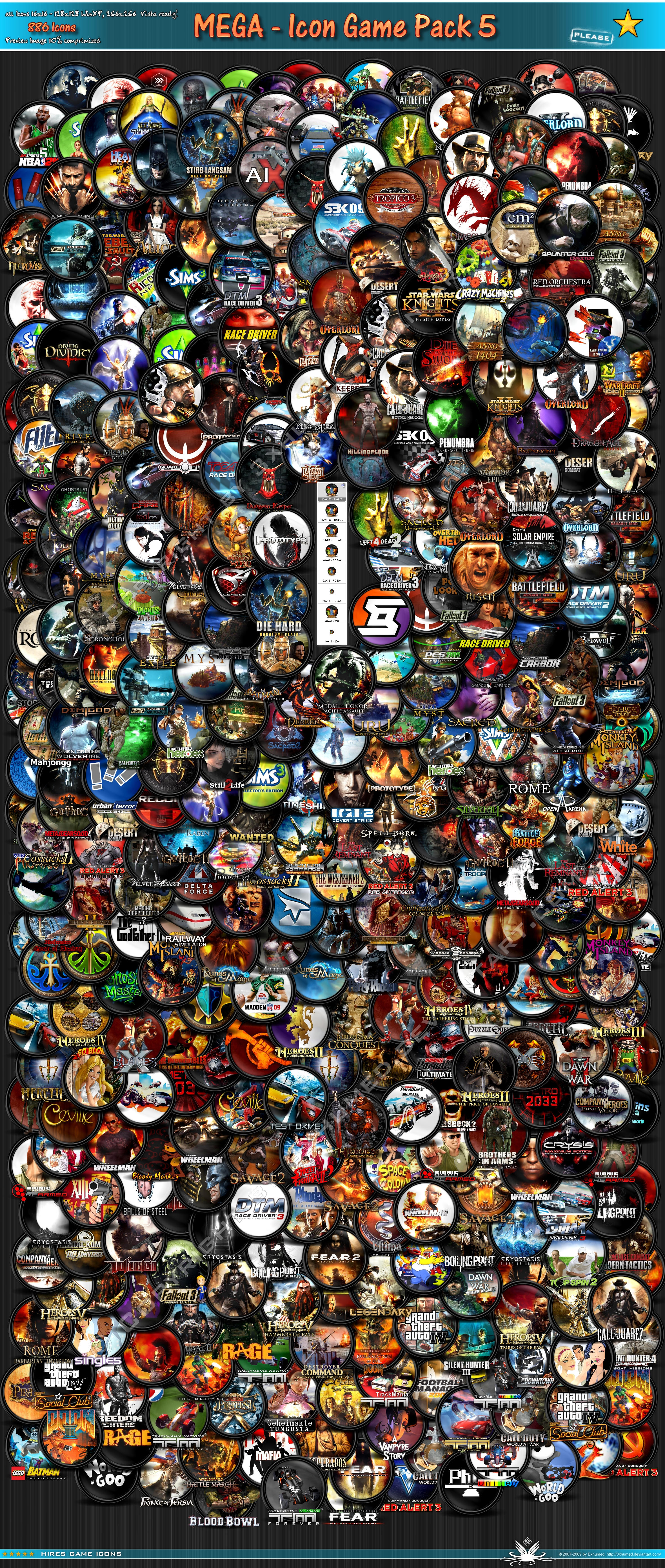 Mega Games Icon Pack 5_1of3 by 3xhumed