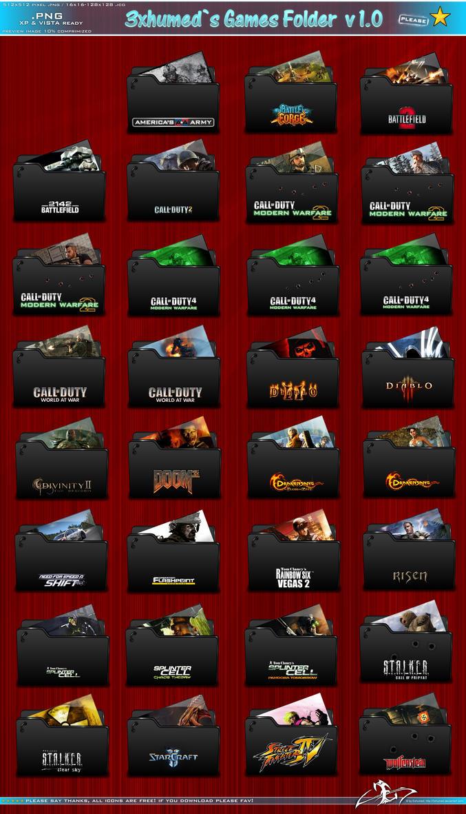 Games Folder Concept v1 by 3xhumed
