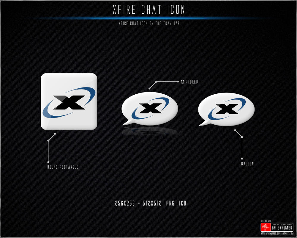 Xfire Chat Tray Icon by 3xhumed
