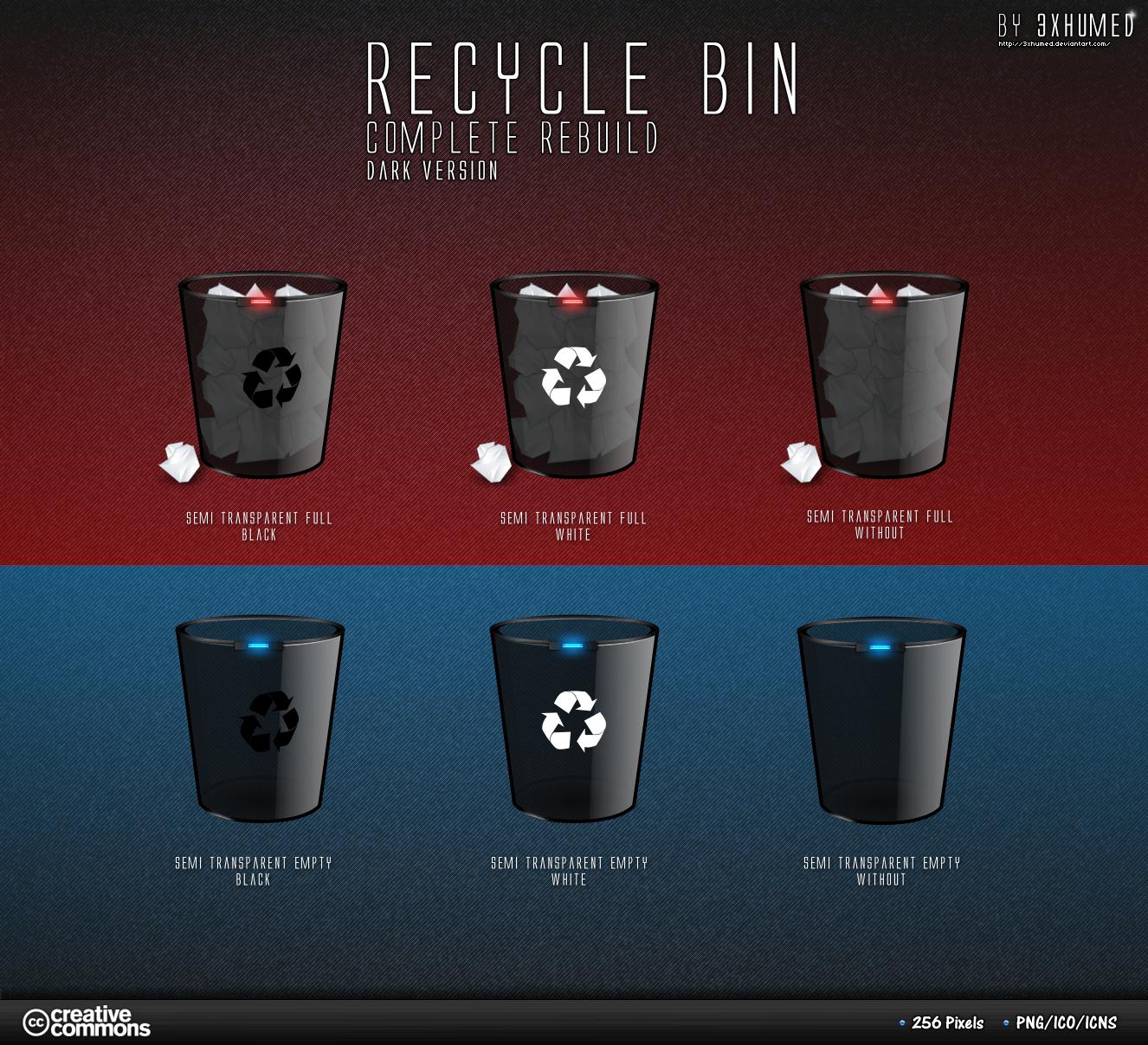 Recycle Bin - Black Version2 by 3xhumed