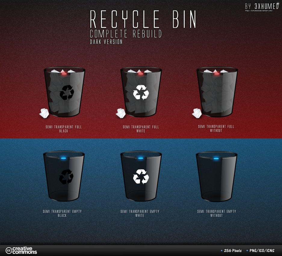 Recycle Bin - Black Version2 by 3xhumed