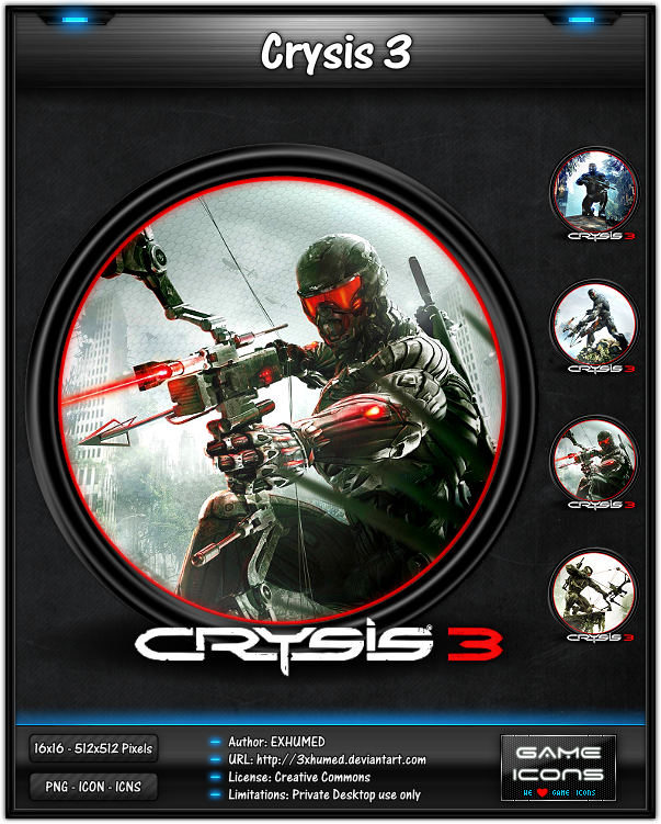 Crysis 3 - Game Icon by 3xhumed