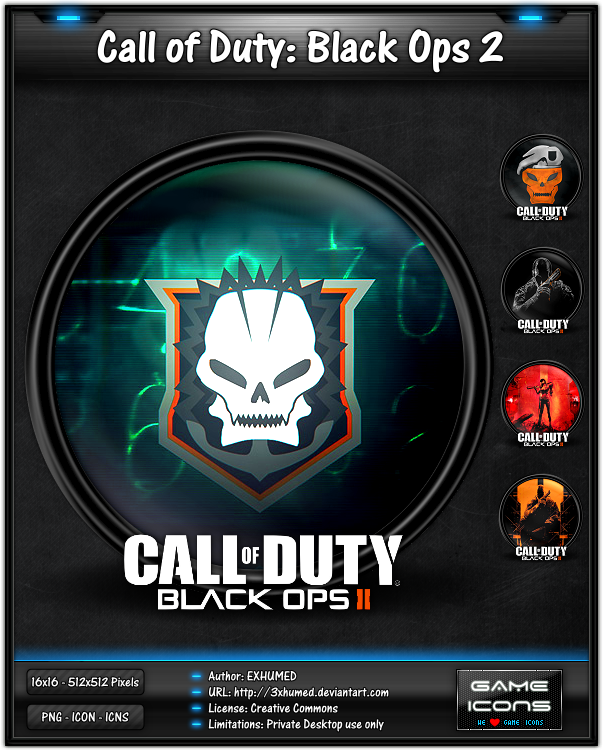 Call Of Duty Black Ops 2 Wallpaper: Game Icon By 3xhumed On DeviantArt