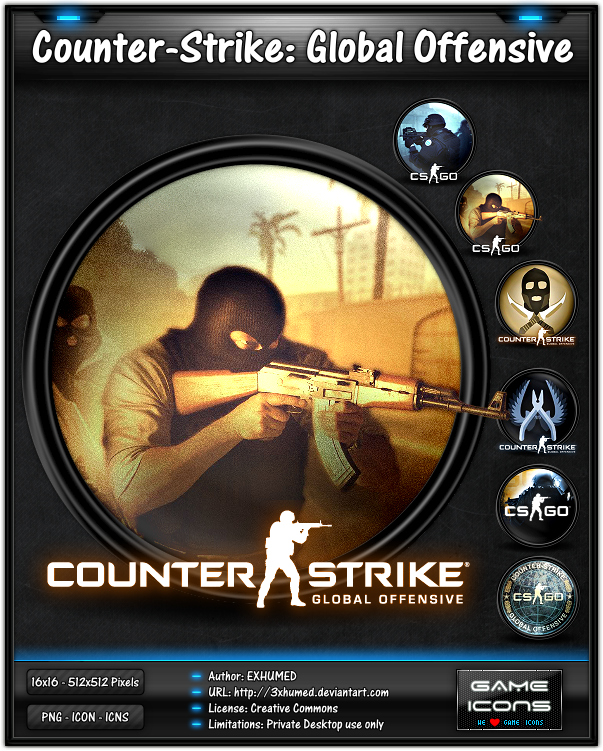 Counter-Strike Go - Game Icon Pack by 3xhumed