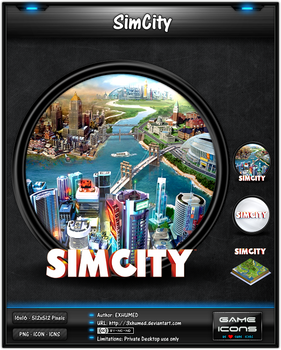 SimCity (2013) - Game Icon Pack