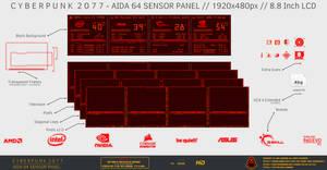 Cyberpunk 2077 - Aida64 Sensor Panel (1920x480px)