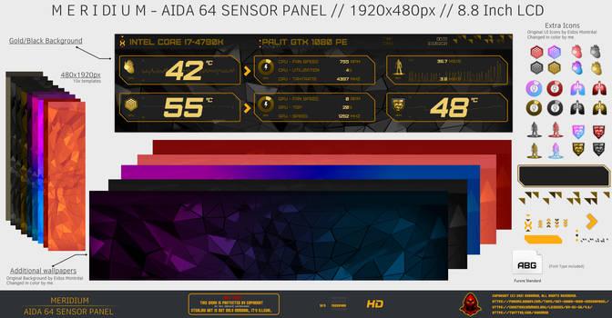 Meridium - Aida64 Sensor Panel by Exhumed