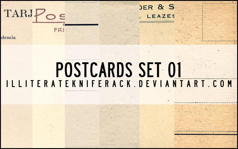 Postcards Scans Set 01 by illiteratekniferack