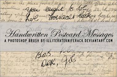 Postcard Messages Brush 01 by illiteratekniferack