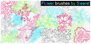 Flower brushes by Siearel