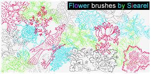 Flower brushes by Siearel by Siearel