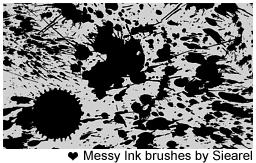 Messy ink brushes by Siearel by Siearel