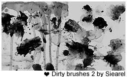Dirty brushes 2 by siearel by Siearel
