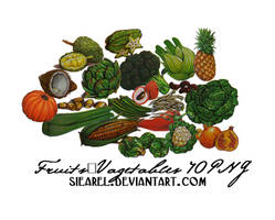 Vegetables and Fruit 40PNG