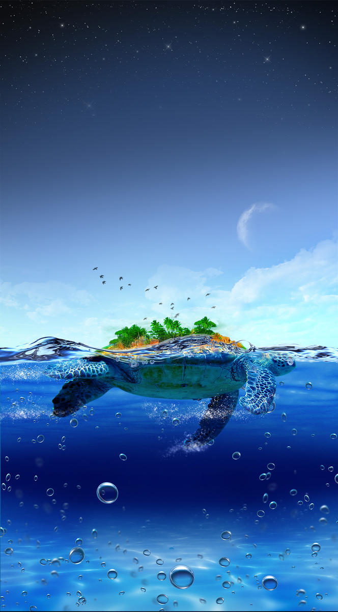 Turtle Island Revisited PSD by InfiniteCreations