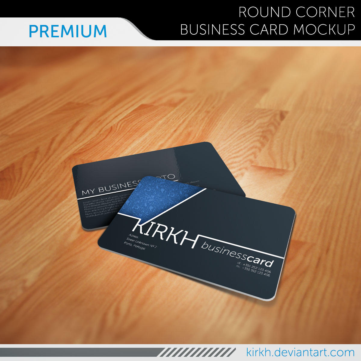 Premium Business Card Mockup by InfiniteCreations on