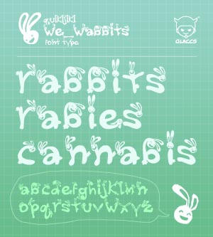 :::We_Wabbits::: +font type+