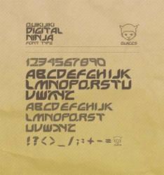 +Digital Ninja+ :font type: