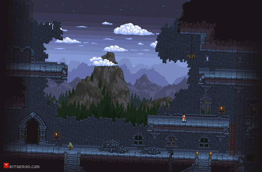 2d Pixel art Dugneon set for Bitgem