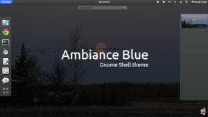 Gnome Shell - Ambiance Blue