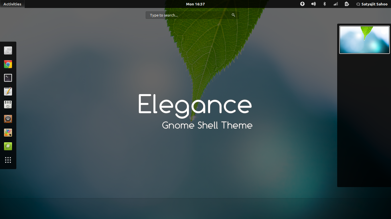 Gnome Shell - Elegance