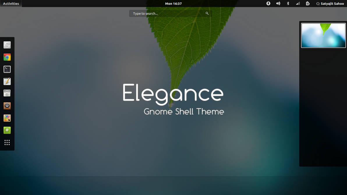 Gnome Shell - Elegance by satya164 on DeviantArt