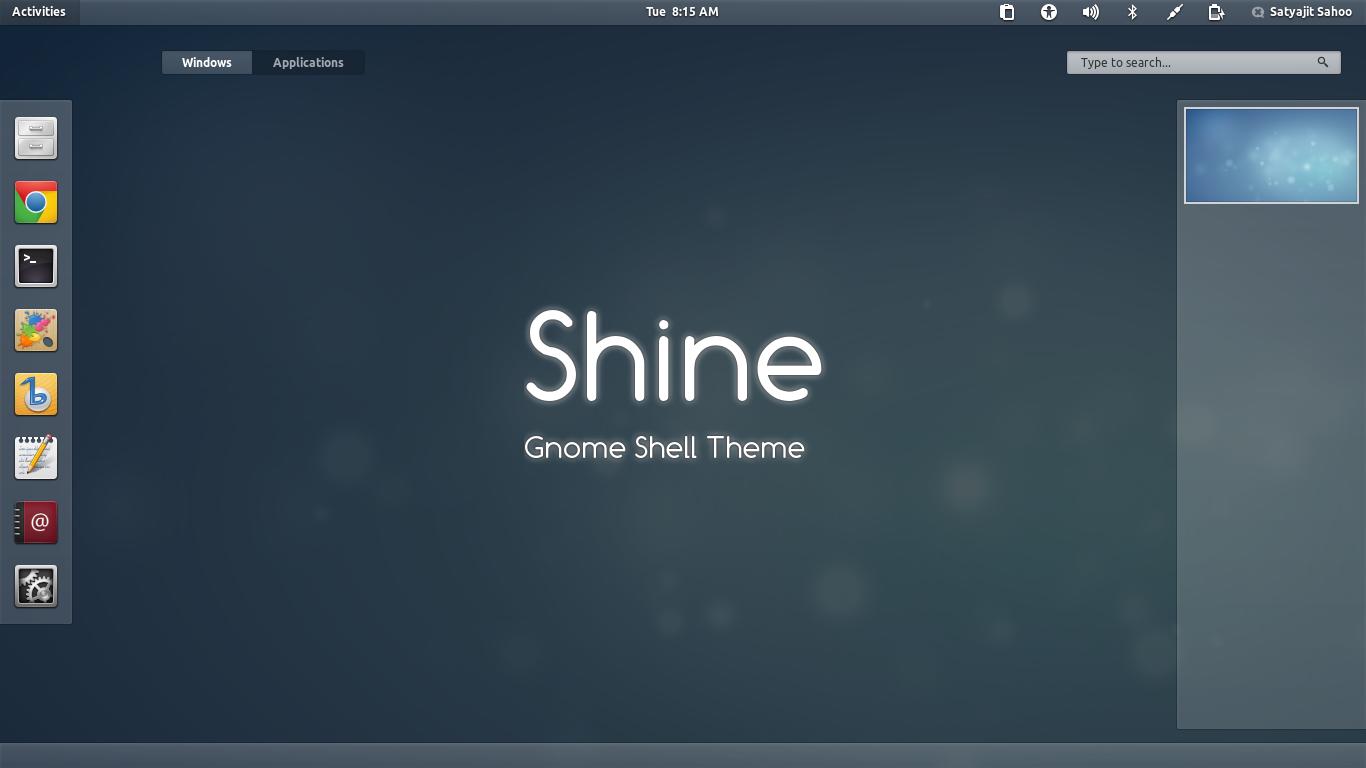 Gnome Shell - Shine