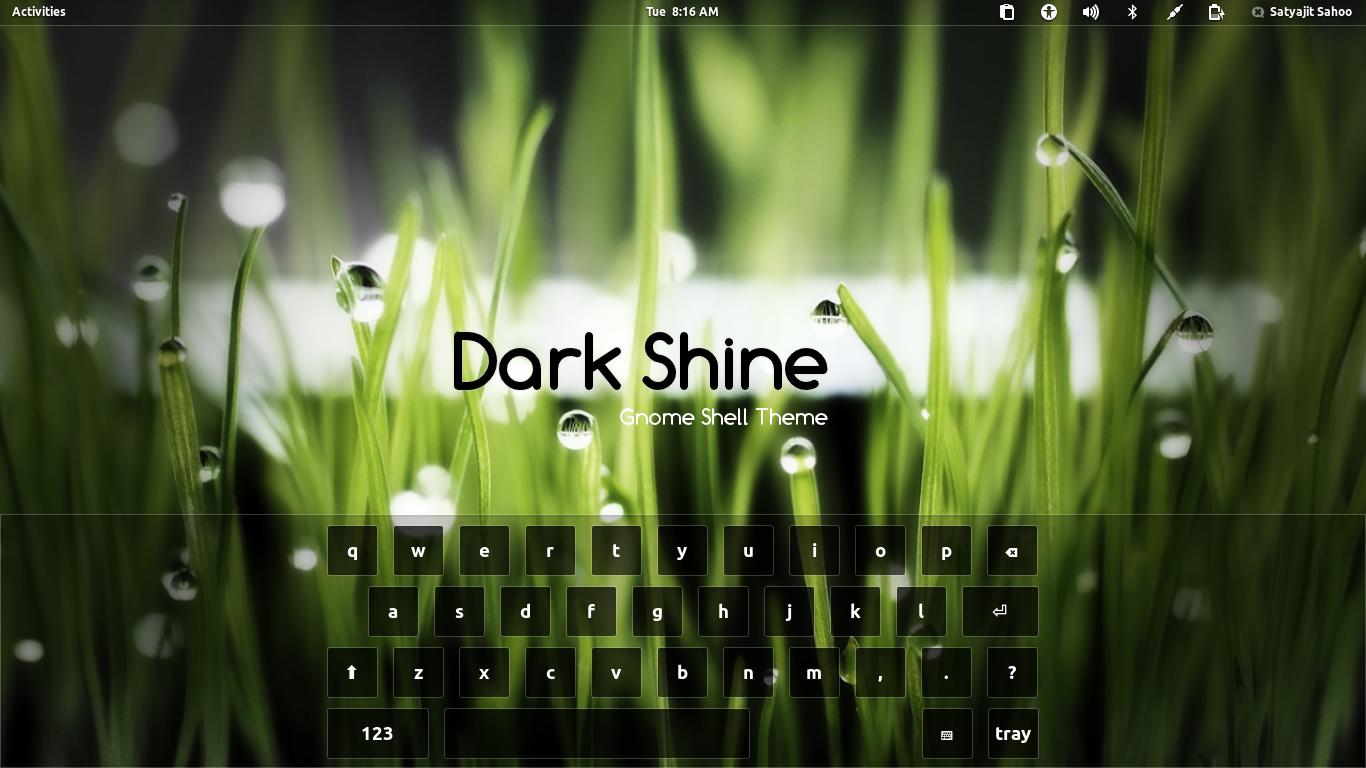 Gnome Shell - Dark Shine
