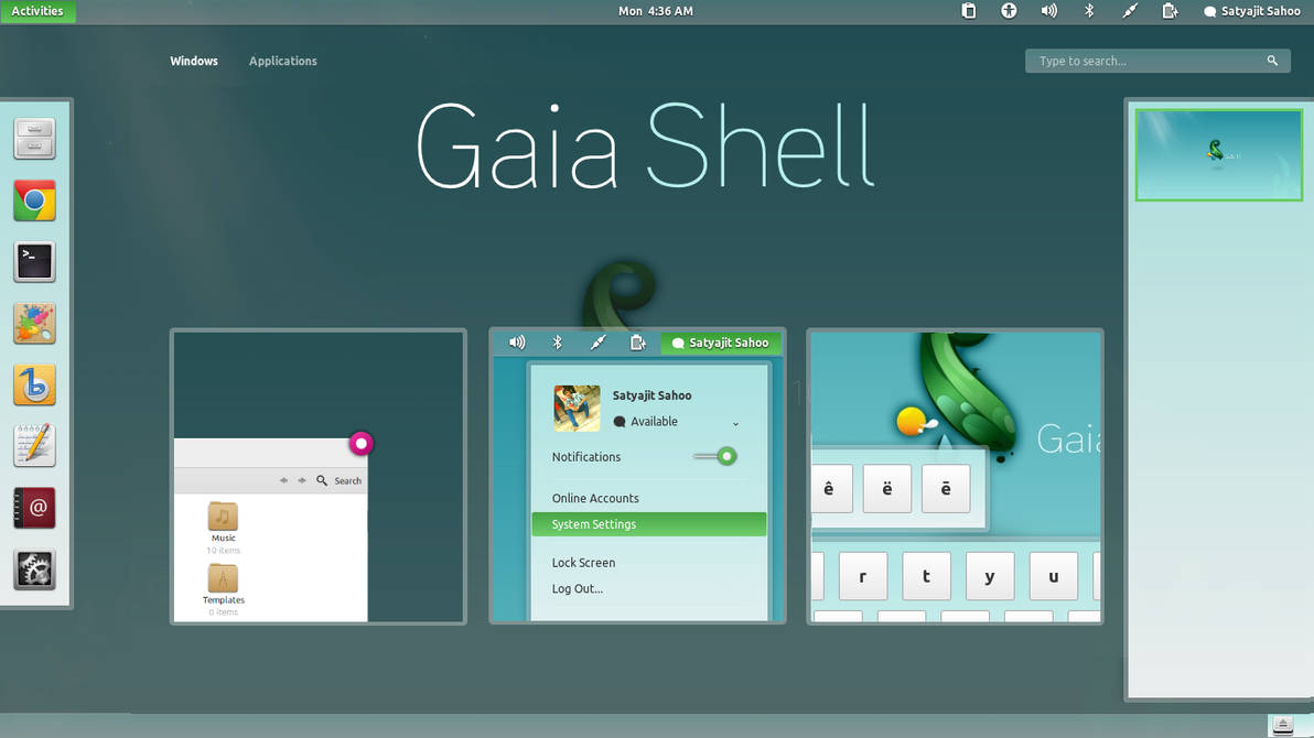 Gaia theme linux