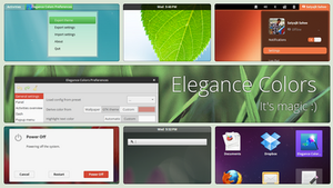 Gnome Shell - Elegance Colors