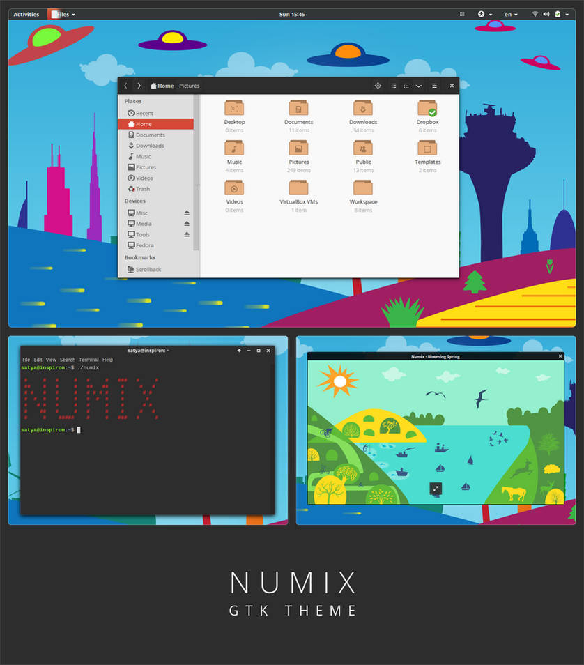 Numix - GTK3 theme by satya164