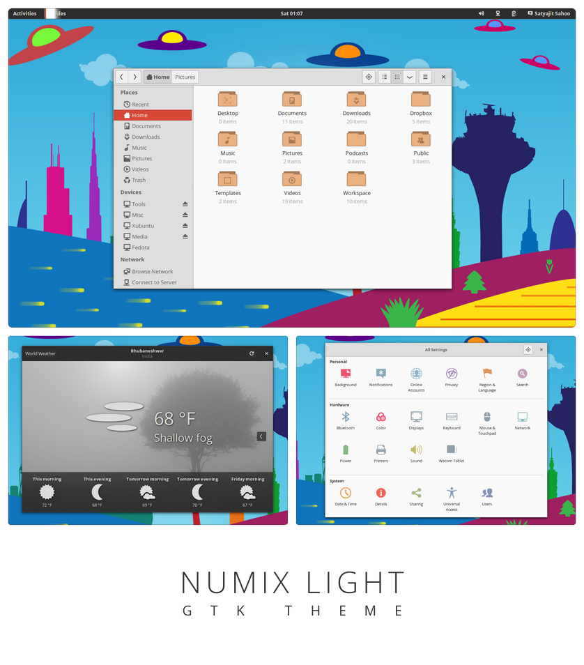 Numix Light - GTK3 theme by satya164
