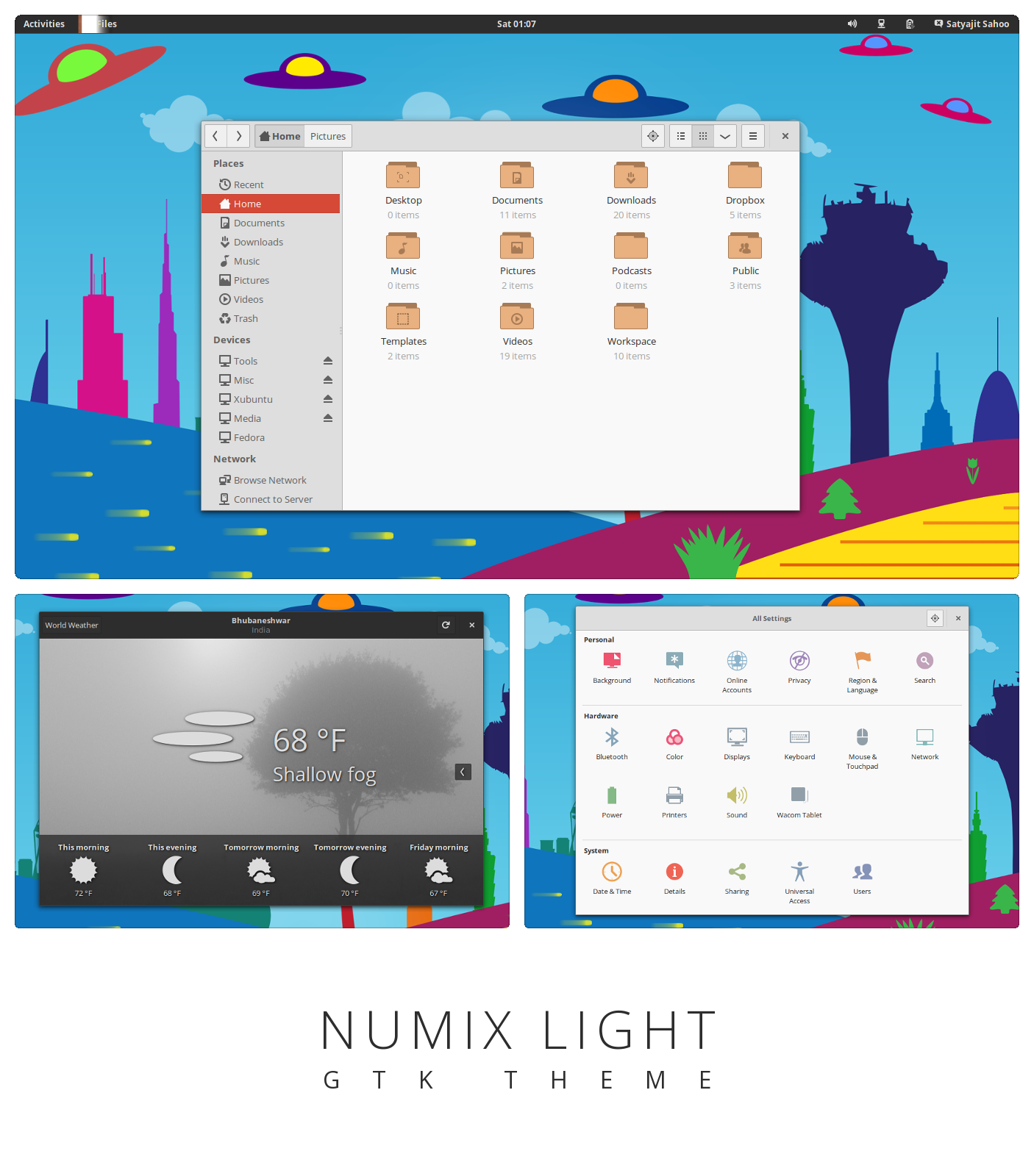 Numix Light - GTK3 theme by satya164
