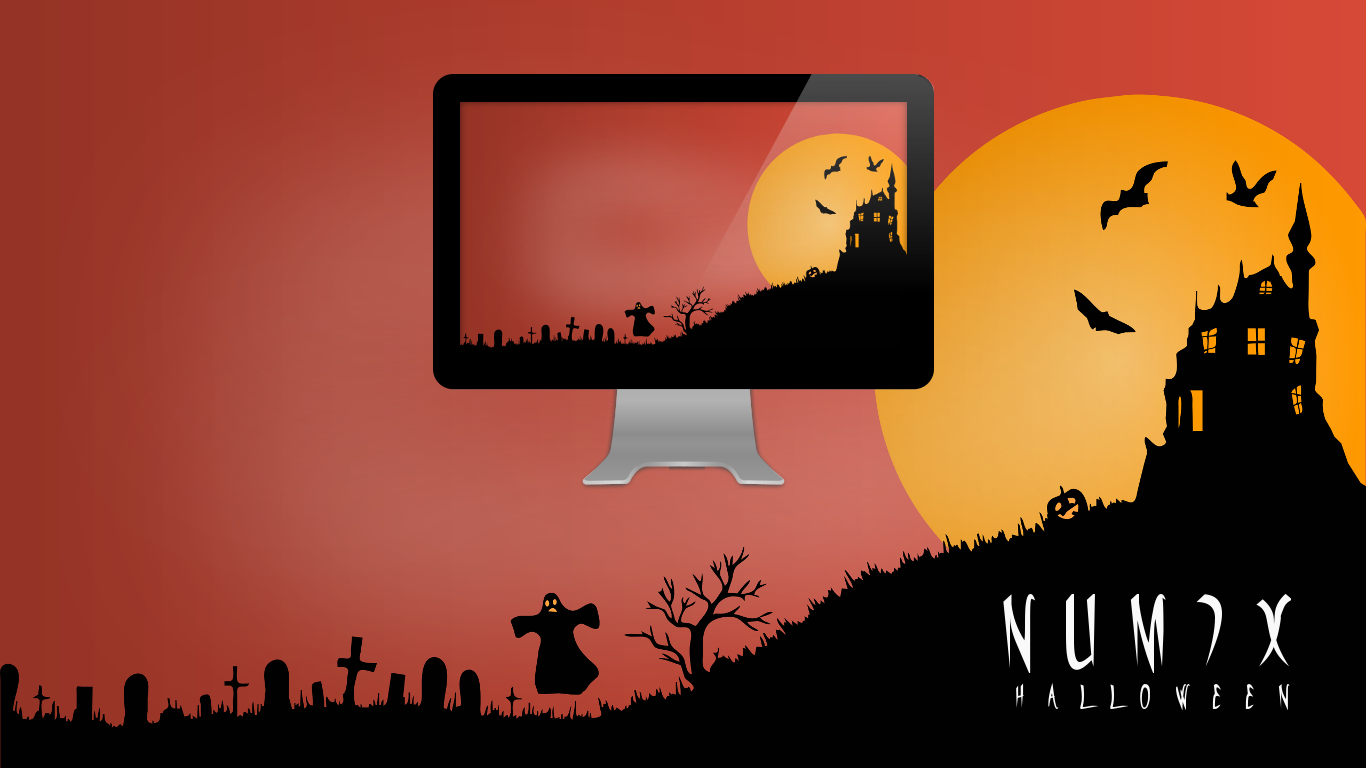 Numix - Halloween - Wallpaper by satya164