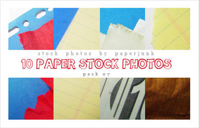 Stock Pack 07: Paper Scraps by PaperJunk