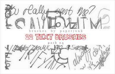 Brushes Pack 05: Text