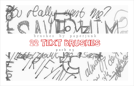Brushes Pack 05: Text by PaperJunk