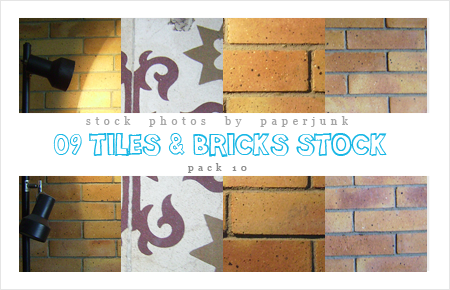Stock Pack 10: Tile And Bricks by PaperJunk