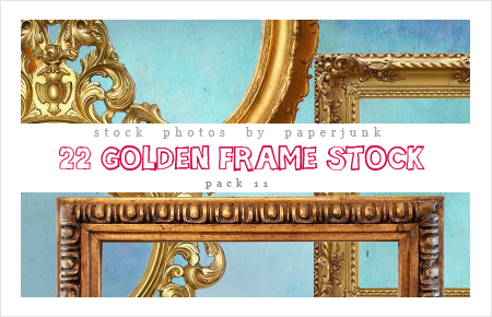 Stock Pack 11: Golden Frames by PaperJunk