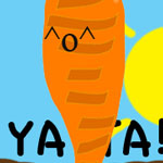 Jumping Carrot by GraphicFeedback
