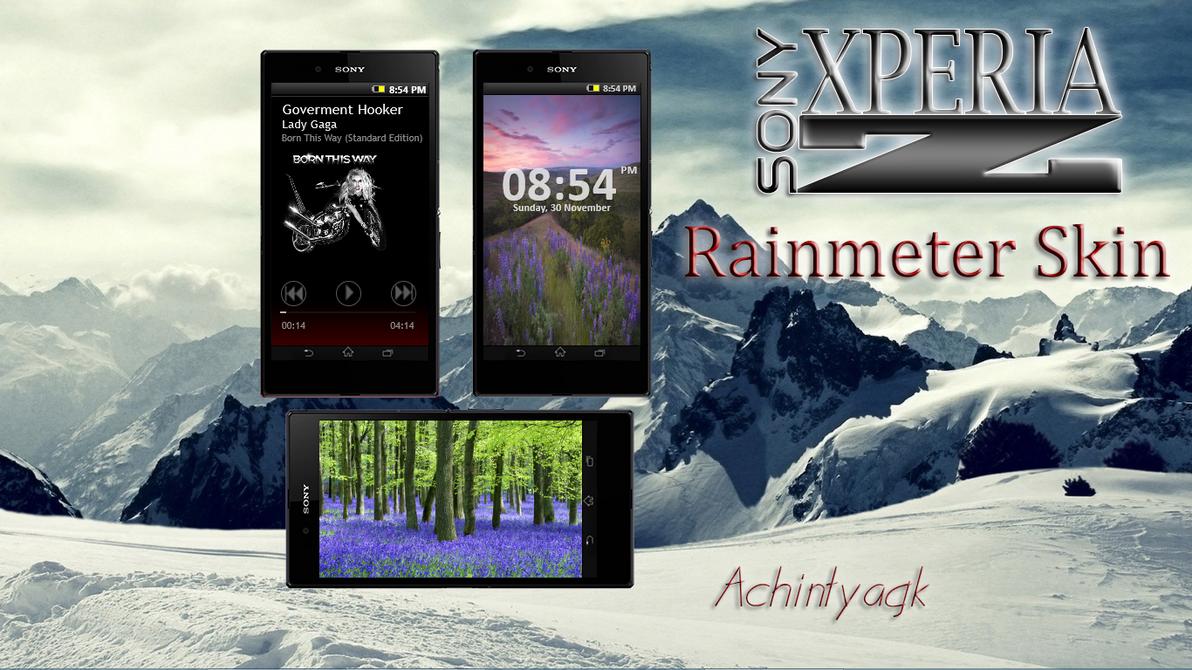 Xperia Z Rainmeter by achintyagk